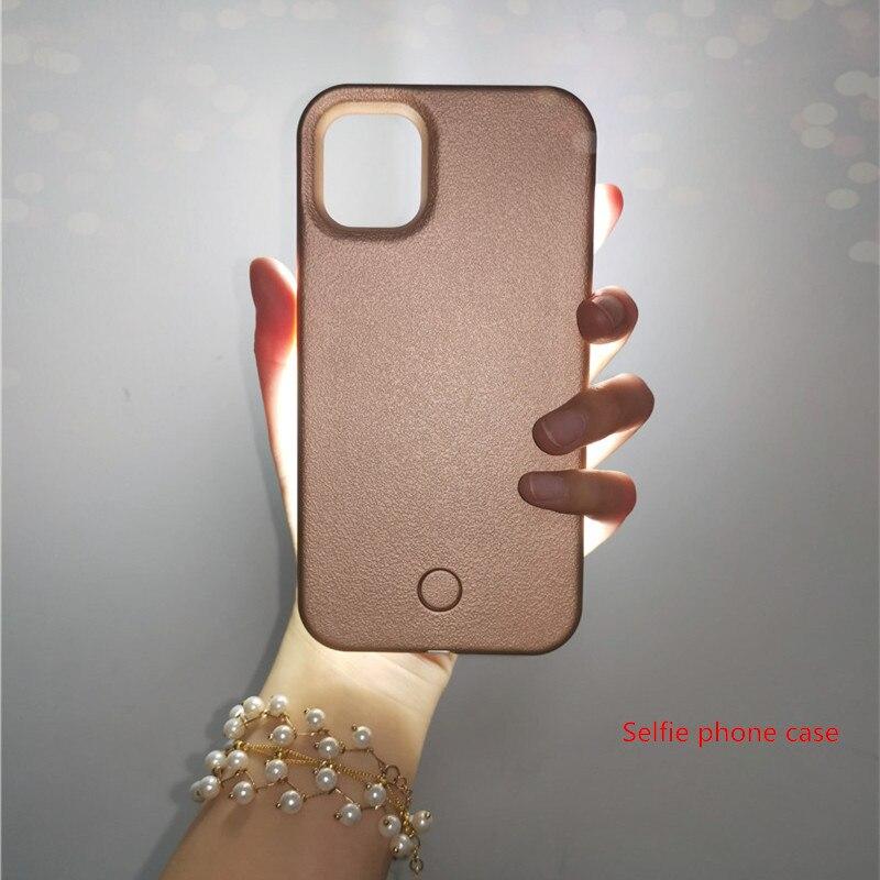 Selfie אור טלפון עבור iPhone 11 פרו מקרה עבור iPhone 7 8 6 6s בתוספת עם אורות פלאש יוקרה עבור אני טלפון XR XSMAX X כיסוי