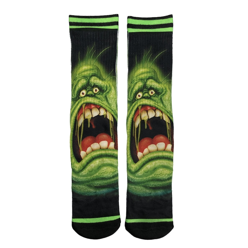 Cartoon Printing And Dyeing Socks Hip Hop Novel Personality Fashion Wind Leisure Sports Ln The Long Cotton Skateboard Socks Tren