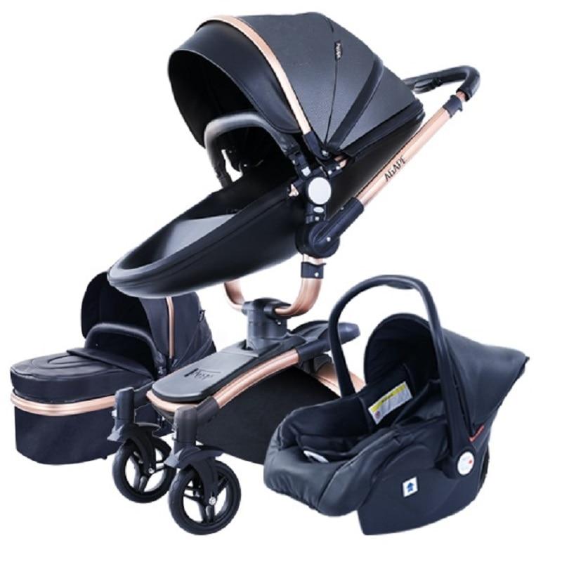 عربة أطفال حديثي الولادة 3 في 1 عربة أطفال عالية المناظر الطبيعية كرسي يدفع باليد عربة أطفال عربة أطفال عربة أطفال