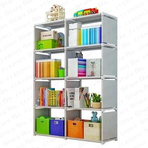 5/4 layer Bookcase Simple Assembled Bookshelf Corner Closet Sundries Book Storage Organizer Shelf for Kids Book Rack Furniture