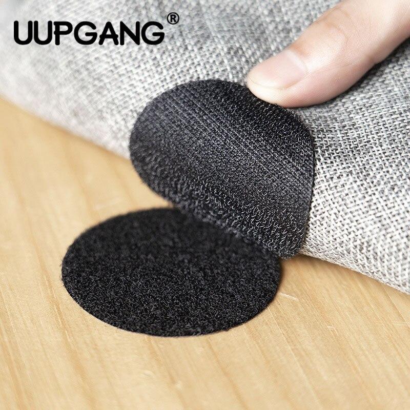 5 pares de adhesivos de cinta autoadhesiva superfuertes Velcros bucle de gancho con pegamento para sábana estera de sofá alfombrilla antideslizante