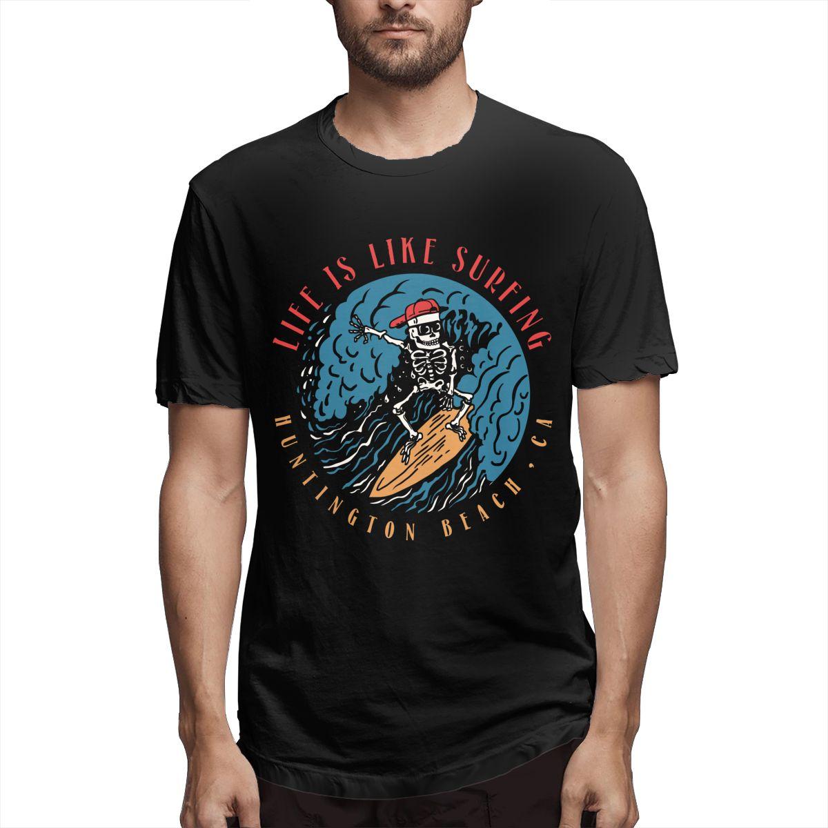 Camiseta informal de manga corta para hombre, Camiseta con estampado de