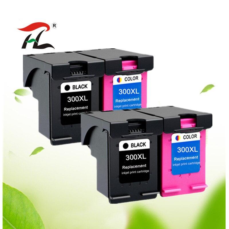 Paquete de 4 Compatible 300XL reemplazo de cartucho de tinta para HP 300 para HP300 Deskjet serie D1660 D2560 D5560 F2420 F2480 F4210 impresoras