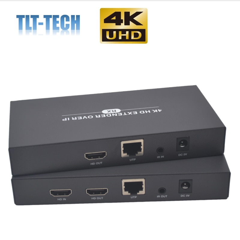 2020 Best 150m H.265 4K HDMI Extender Over IP Network 4K HDMI IR Extender By Ethernet RJ45 CAT5/5e/6 Cable Like HDMI Splitter