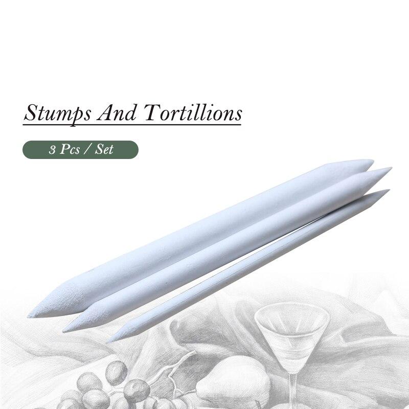 Lote de 3 uds de tocones de mezcla de papel de doble cabeza y Tortillions, suministros de pintura artística para dibujo