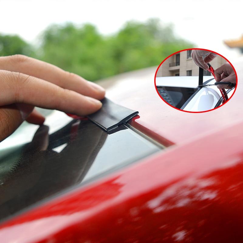 Tiras de junta de goma para coche, adhesivo Protector de sello para ventana, borde del parabrisas, tira de sellado, accesorios de aislamiento de ruido