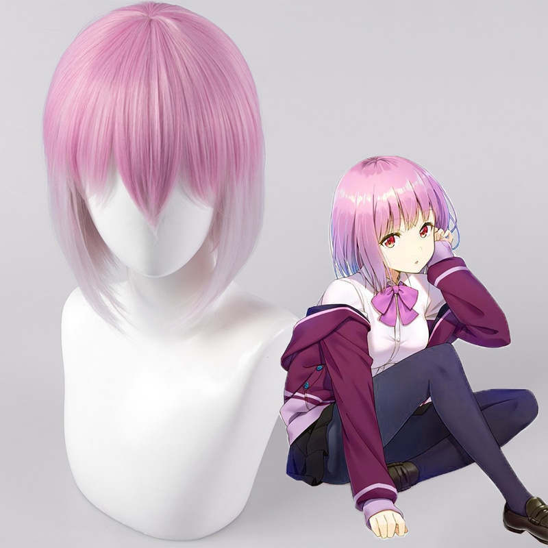 Pelucas de Cosplay de Anime SSSS.Gridman Akane Shinjou, peluca sintética resistente al calor para fiestas de Halloween, peluca de Cosplay para mujeres