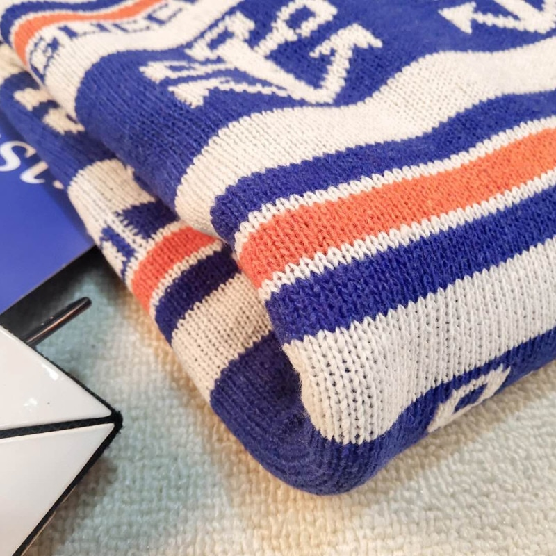 Casual Large Size Fun Striped Sweater Female College Couple Loose Harajuku Tops O-neck Ins Knitted Chic Sweater enlarge