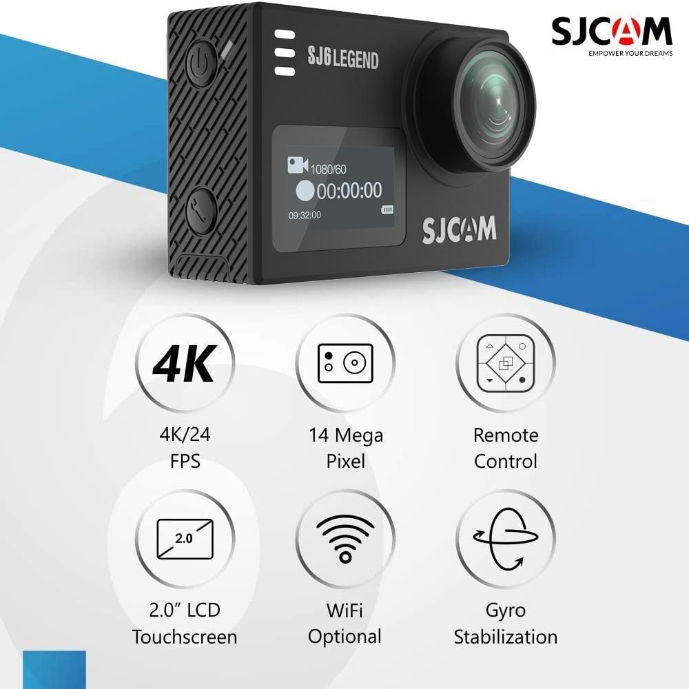 Original SJCAM SJ6 Legend Action Camera 4K Wifi 30M Waterproof Ultra HD 2
