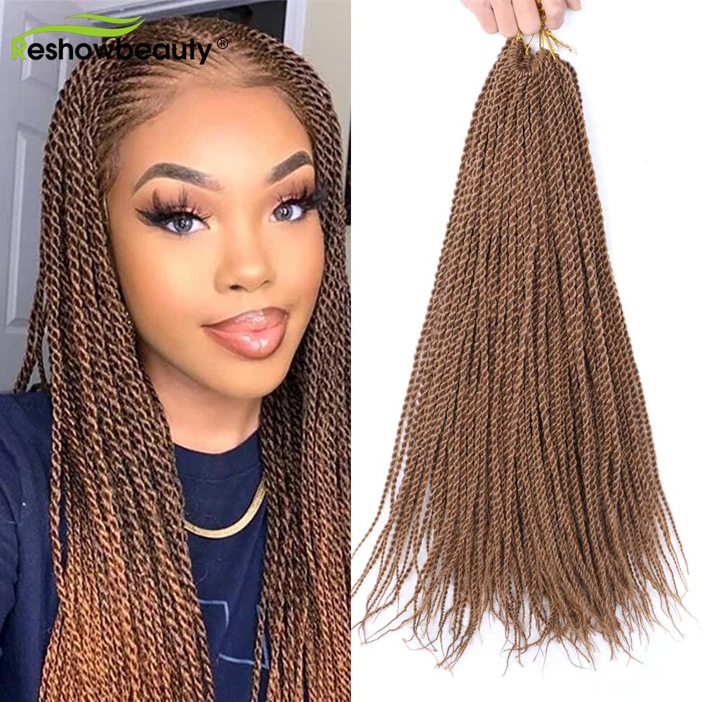 Senegalese Twist Haar Verlängerung 18 22 Zoll Synthetische Flechten Haar Extensions 30 Stränge/Pack Häkeln Zöpfe Haar Reshowbeauty