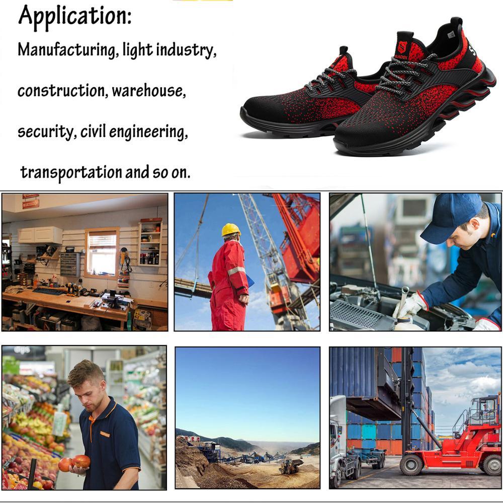 SUADEX Safety Shoes Men Women Steel Toe Boots Indestructible Work Shoes Lightweight Breathable Composite Toe Men EUR Size 37-48