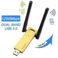usb 3 0 wireless network adapter 1200mbps 2 4g5g 802 11ac dual antenna wireless card for desktop laptop dual band network card
