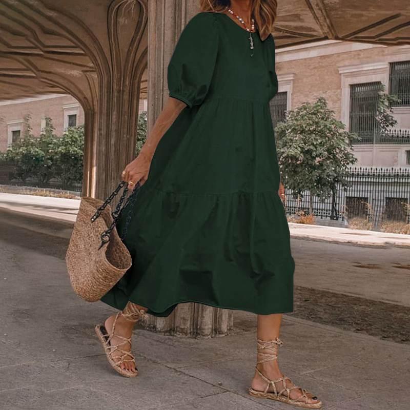 Party Loose WomenSummer Vestido Plus  Casual 5XL Beach Dress Elegant Sundress Bohemian Mid-Calf Summer Size Dres