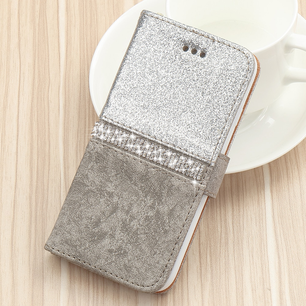 Bling Glitter Wallet Phone Case For iPhone X Xr Xs 11 Pro Max Leather Purse For 6S 6 8 7 Plus 5 5S SE 2020 12 360 Girls Cover