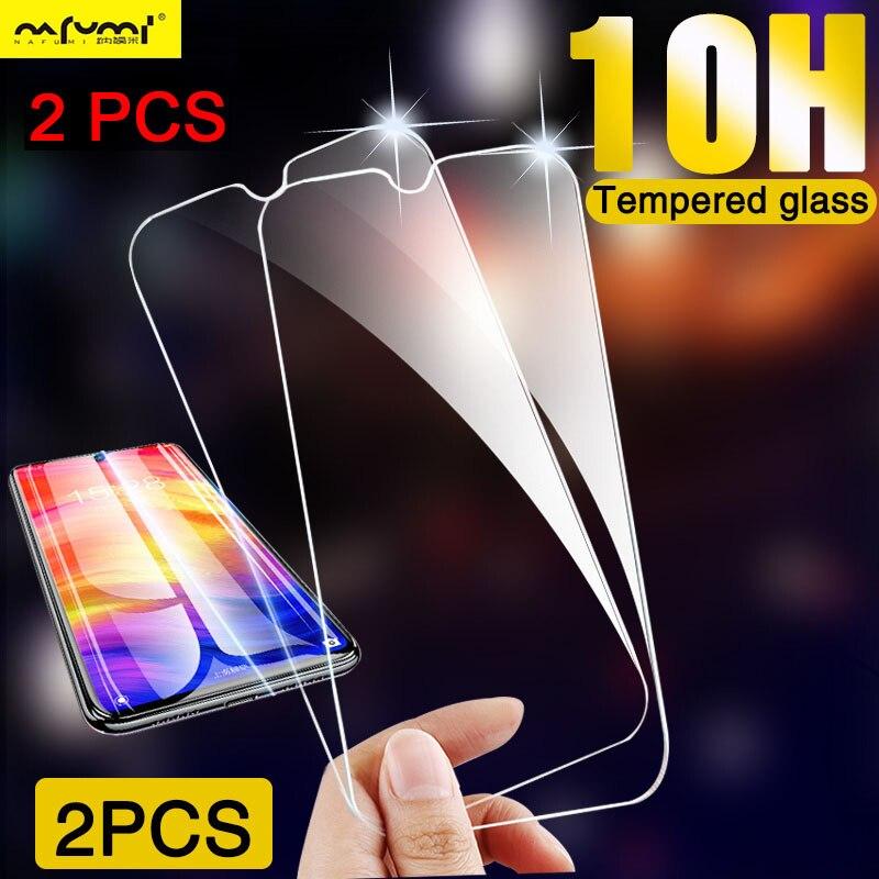 2 piezas de vidrio Protector duro transparente 9H para Samsung A50 A60 A80 A90 Protector de pantalla para Galaxy A70 A30 A40 A20E A10 A2 Core HD
