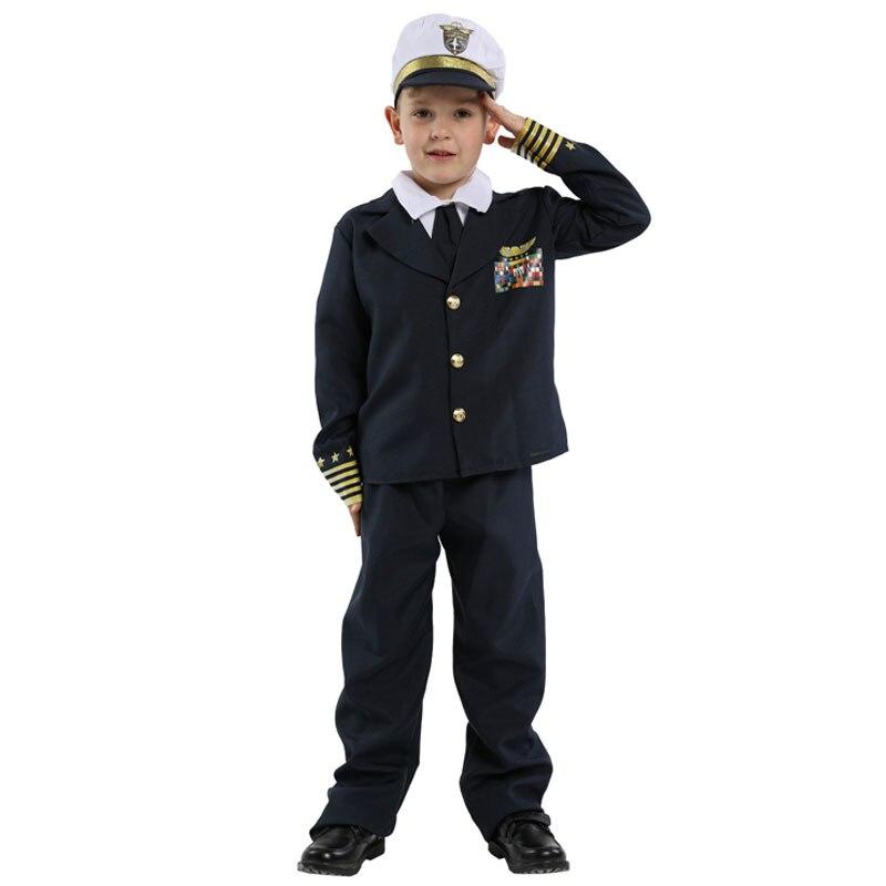 زي الأدميرال البحري للأطفال ، زي الهالوين ، كرنفال ، حفلة تنكرية ، ماردي غرا