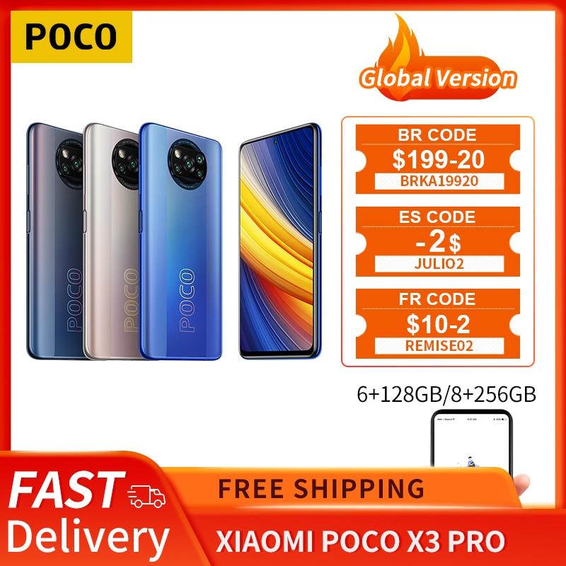 POCO X3 Pro Global Version 6GB+128GB/8GB+256GB Xiaomi Smartphone Snapdragon 860 120Hz DotDisplay 33W Fast Charger AI Camera NFC