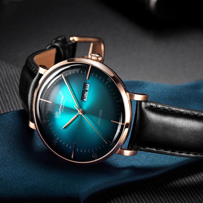 كرنفال العلامة التجارية الفاخرة ميوتا الساعات الرجال موضة مقاوم للماء ارتفع الذهب والفضة التقويم التلقائي ساعة اليد الميكانيكية Relogio