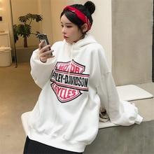 Japanese Vintage Chic Hong Kong Sweatshirt Women's Loose Korean Ins Idle Style Fleece Padded Waitmor