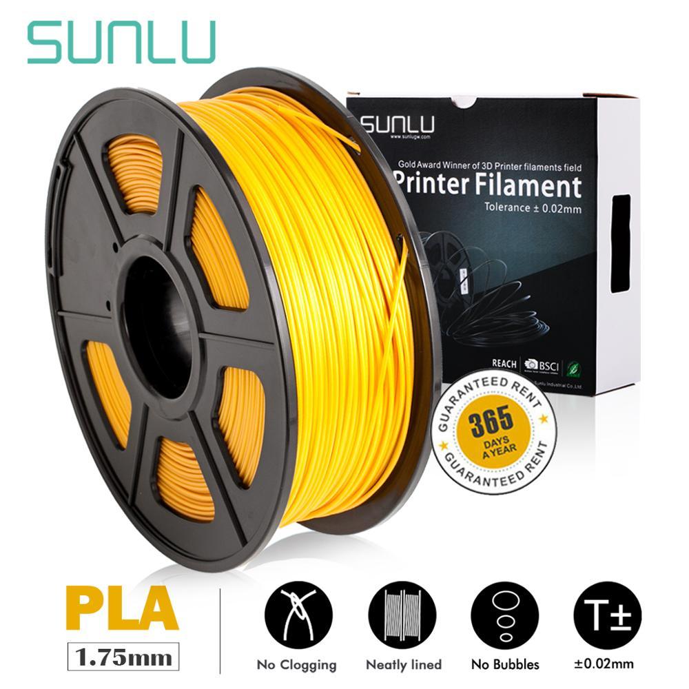 SUNLU 3D filamento de impresora 1,75mm 1kg PLA Lightgold SUNLU PLA entrega rápida de Australia se admiten pedidos al por mayor