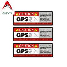 Предупреждающая наклейка Aliauto 3 X, с GPS защитой, аксессуары из ПВХ для Toyota, Opel, Seat, Nissan, Suzuki, Peugeot,10 см * 4 см