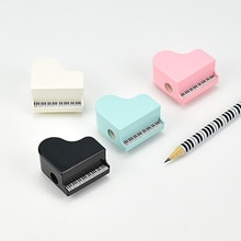 Afiladores de lápices pequeños con forma de Piano, afilador de música de plástico, papelería para niños, cuchillo de regalo, suministros de oficina y escuela