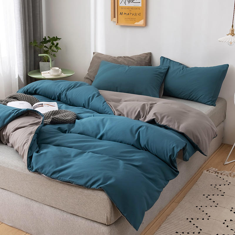Yaapeet 1 قطعة بلون حاف الغطاء R البني تنفس غطاء لحاف لينة ميركو الألياف السرير حامي بلون حاف غطاء الفراش