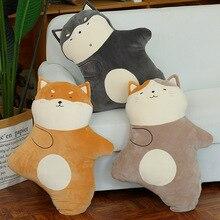 40 cm 일본 귀여운 kawaii 재미 있은 shiba inu 거친 새끼 고양이 부드러운 플러시 베개 박제 동물 인형 크리스마스 선물 키즈 장난감