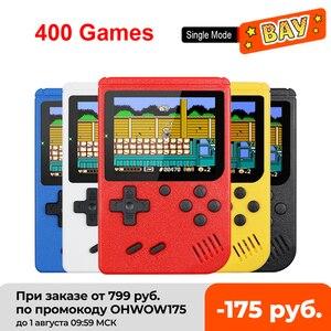 Портативная мини-консоль для видеоигр в стиле ретро, 8 бит, 3,0 дюйма, цветной ЖК-дисплей, Детская цветная игровая консоль, 400 встроенных игр
