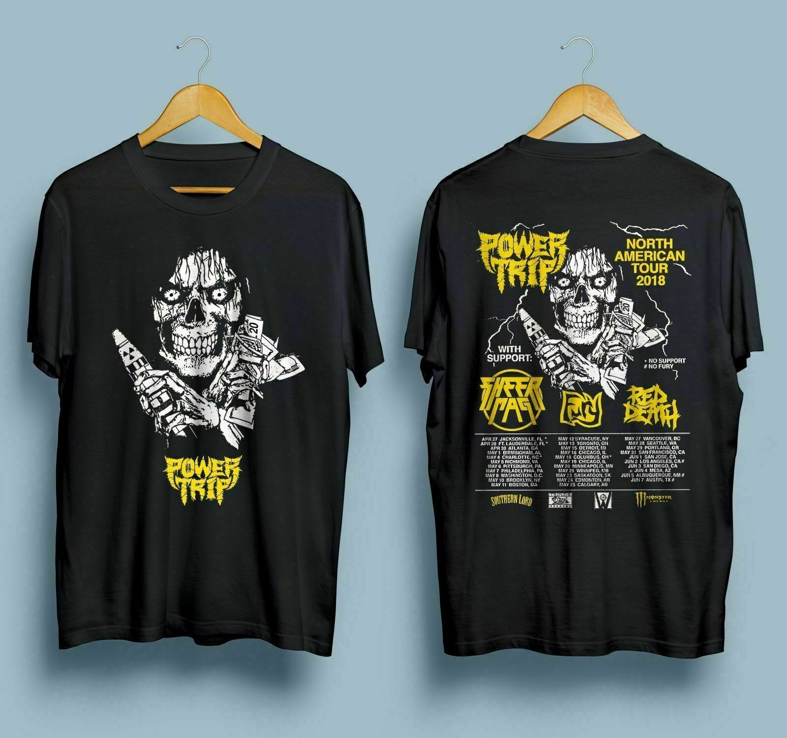 Raro viaje de energía North American Tour 2018 camiseta Tamaño Xl otro tamaño Chat Me