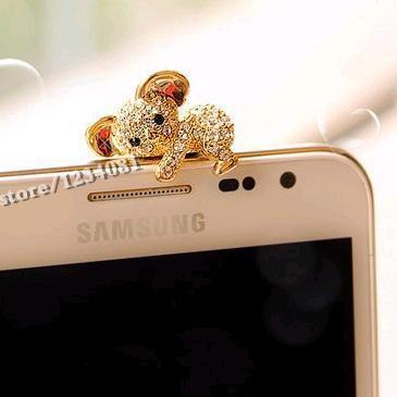 Модные Стиль милый коала дизайн Мобильный телефон ушной пинцет-Пылезащитная заглушка для смартфонов милые аксессуары для мобильных телефонов-2