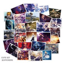 30 Teile/paket Anime Fate Stay Night Schicksal Null König Arthur Saber Aufkleber Skateboard Koffer Gitarre Graffiti Wasserdichte Decor Aufkleber