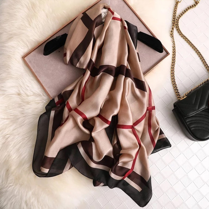 Роскошный фирменный женский шарф, летние шелковые шарфы, шали, Женские палантины, мягкая Пашмина, женская дизайнерская накидка для пляжа, ба...