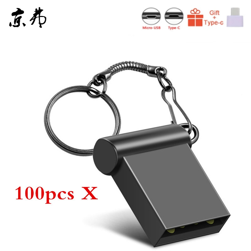 100pcs/Lot Waterproof Pendrive 32gb 16gb Usb 2.0 Flash Drive 8gb 4gb Cheap Memory Stick Pen Drive Metal Memoria Stick Print Logo