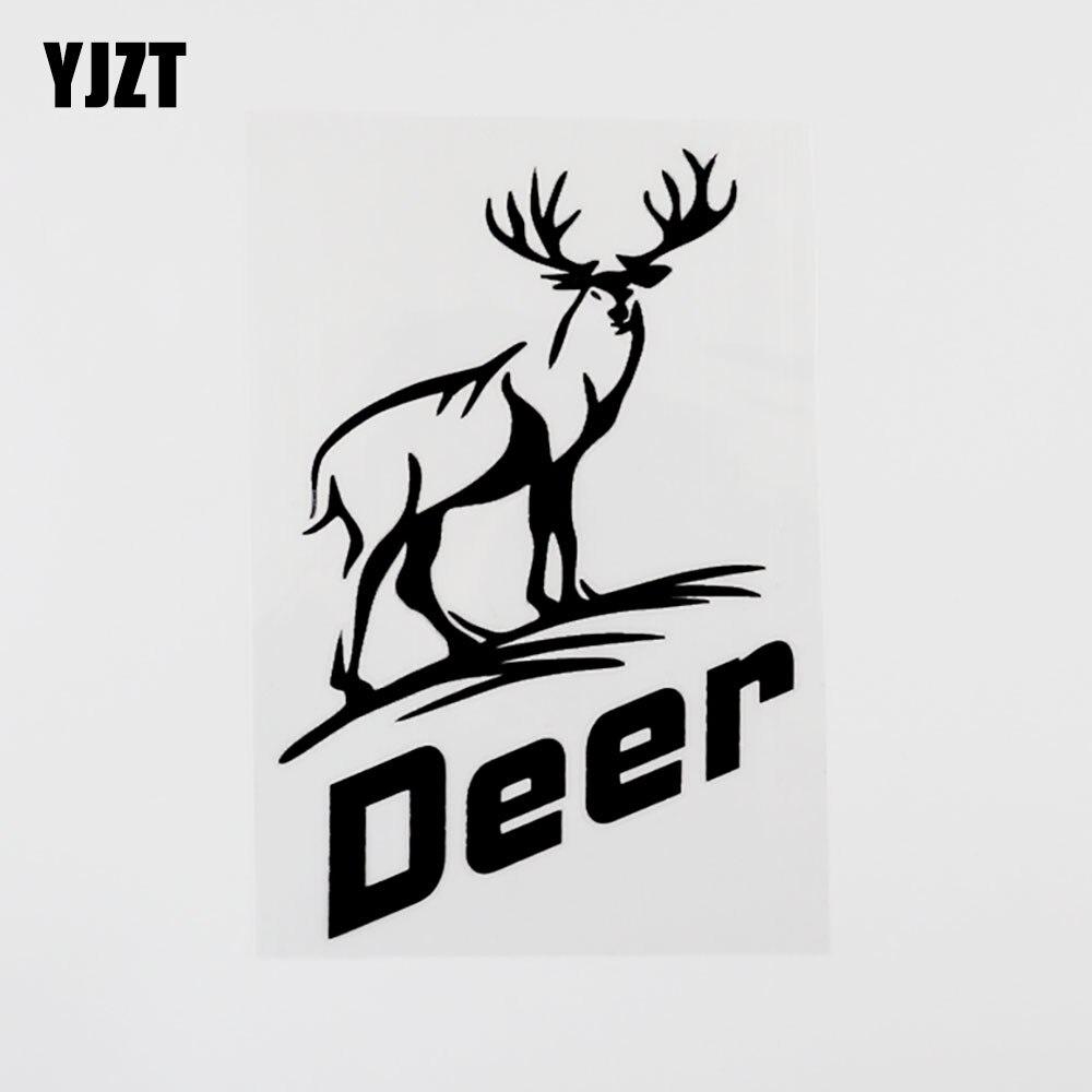 Yjzt 10cm × 14.9cm moda vinil veados animais carro janela adesivo decalque preto/prata 8c-0413