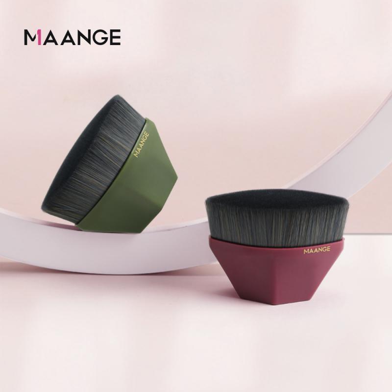 MAANGE gran oferta cepillo de polvo de seis esquinas hexágono solo diamante cepillo cosmético sin rastro brocha de base para maquillaje nuevo TSLM1