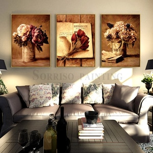 Classical Nostalgic Flower Still Life Canvas Painting Prints Hallway Pictures For Living Room Home Bedroom Decor Dining Wall Art