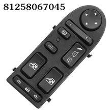 Auto Power Window Lifter Control Switch For MAN TGA TGX 81258067045 81258067098 Button LHD Car