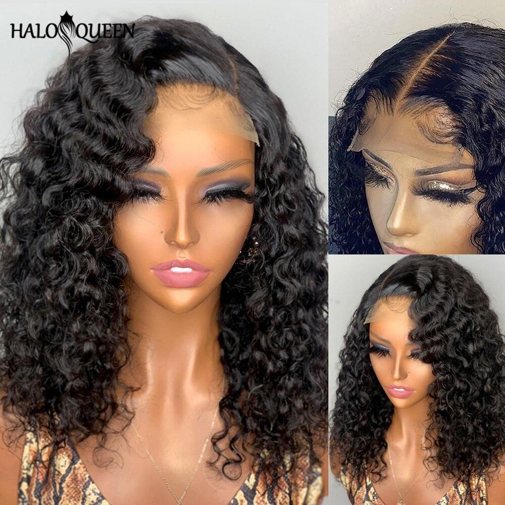 Bob Closure Wig Lace Front Human Hair Wig For Black Women Curly Human Hair Wig Brazilian Hair Wig Pre Plucked Bob Wig Human Hair