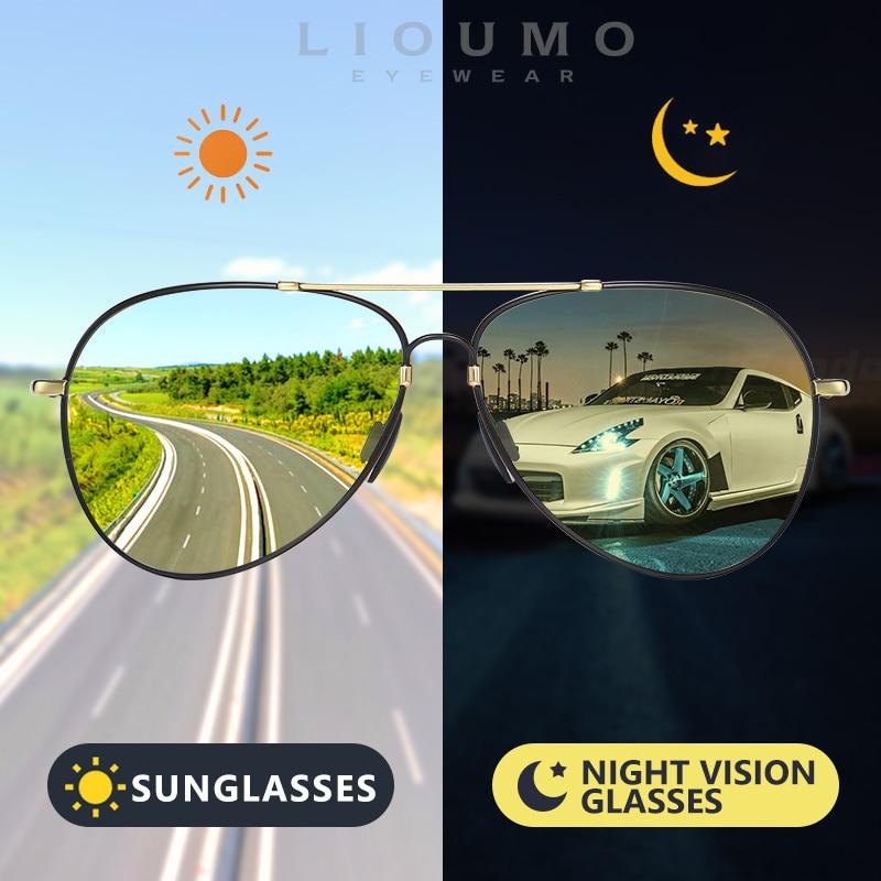LIOUMO-gafas de sol polarizadas de piloto para hombre y mujer, lentes fotocromáticas...