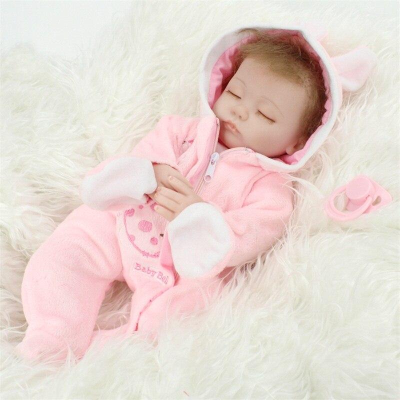 45CM silicona suave Reborn bebé niña recién nacido muñecas realistas bebé recién nacido juguete bebé Reborns muñecas para la venta como niño Playmate