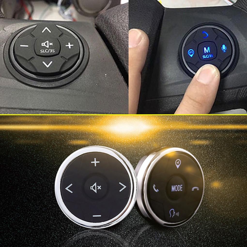 Универсальный автомобильный пульт дистанционного управления на руль ler 10 кнопок музыка беспроводной DVD GPS навигация Радио пульт дистанцион...