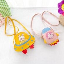 Cartoon Bunny Children Coin Purse PU Leather Baby Girls Mini Shoulder Crossbody Bags Kids Gift Cute