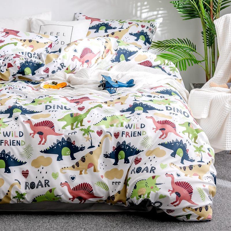 المنسوجات المنزلية الكرتون ديناصور الفراش مجموعات الأطفال Beddingset أغطية سرير حاف الغطاء المخدة/أطقم سرير # s