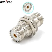 1pcs uhf pl 259 so 239 female to uhf female jack rf straight connector adapter nickel