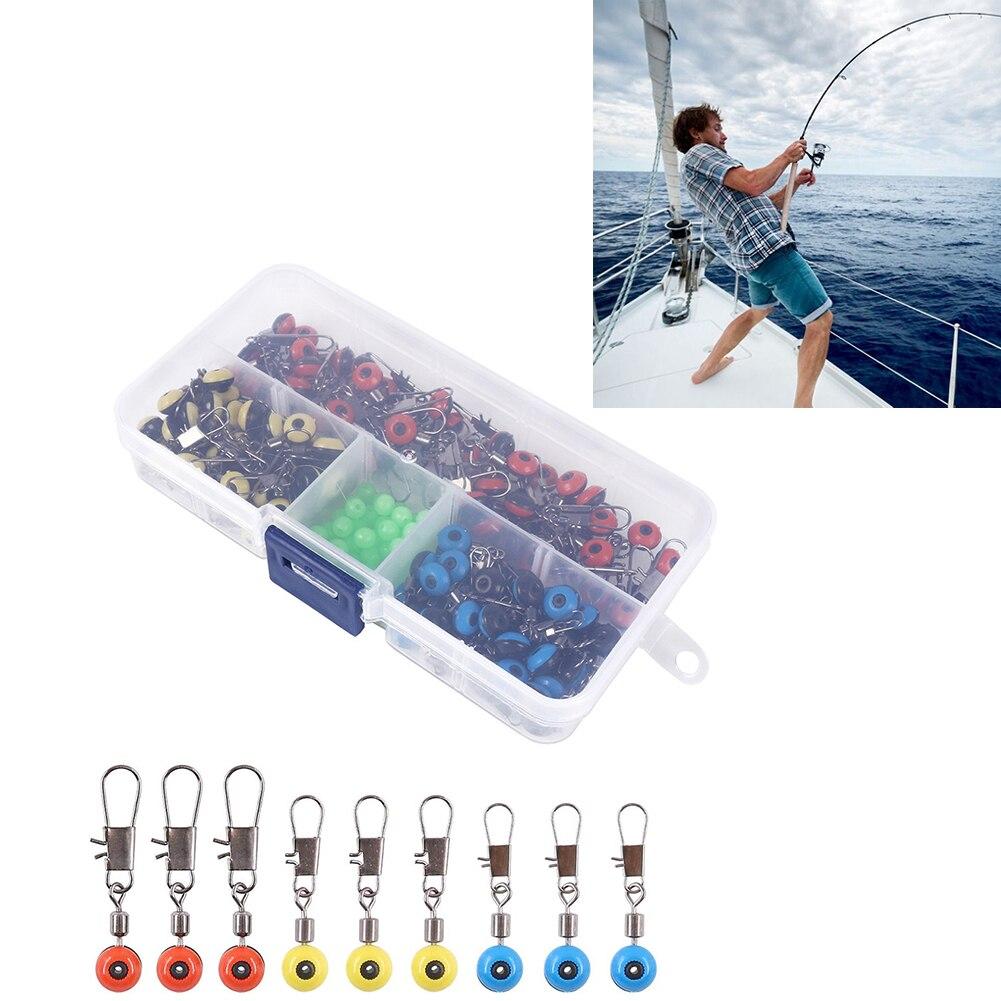 Fishing Line Sinker Fishing Snap Swivels Slider Beads Sinker Slides With Glowing Fishing Beads For Fishing 200PCS Fishing Goods enlarge