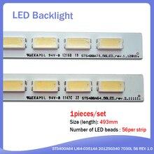 Nuevo 56LED 493MM tira de LED para iluminación trasera para 40PFL5537H LJ64-03514A LJ64-03501A STS400A64 2012SGS40 7030L 5K_6k