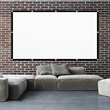 Bluelans H60C Projector Screen Thick Simple Design Polyester 60 Inch 16:9 Foldable Projection Curtai