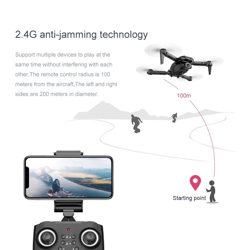 HD XT6 Professional Drone 4k Double Camera WIFI FPV Drone Air Pressure Fixed Height Four-axis Aircraft RC Helicopter with Camera enlarge
