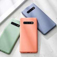 Silicone Souple Téléphone étui pour samsung Galaxy Note 10 S10 Plus S9 S8 9 8 A6 2018 A50 A50S A70 Note9 Note10 S9Plus Couvre Sur